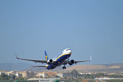 Aéroport d'Alicante - Ryanair Image stock