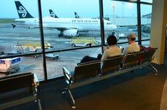Aéroport d'Auckland - Nouvelle-Zélande Photographie stock libre de droits