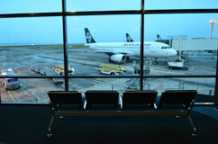 Aéroport d'Auckland - Nouvelle-Zélande Images libres de droits