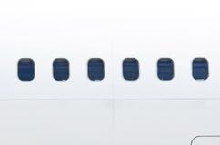 Aéroport d'avion de fenêtre de hublot Photographie stock