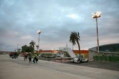 Aéroport d'EILAT OVDA en Israël Images libres de droits