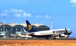 Aéroport d'EL Altet Images libres de droits