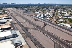 Aéroport d'en haut Images stock