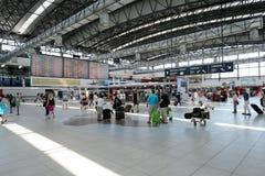 Aéroport d'intérieur de Prague Photographie stock
