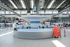 Aéroport d'intérieur de Prague Photo stock