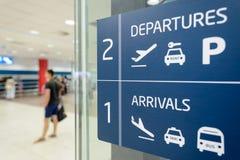 Aéroport d'intérieur de Prague Images stock