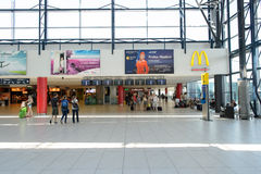 Aéroport d'intérieur de Prague Images libres de droits