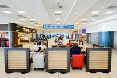 Aéroport d'intérieur de Prague Photo stock