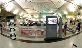 Aéroport d'Istanbul Atatürk - enregistrement Images libres de droits