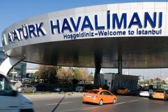 Aéroport d'Istanbul Atatürk - entrée Image libre de droits