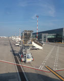 Aéroport d'Orio al Serio en Milan Linate Images libres de droits