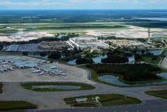 Aéroport d'Orlando International de vue aérienne Photo libre de droits