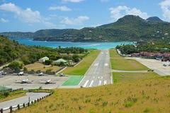 Aéroport dans des bains de St, des Caraïbes Photo libre de droits