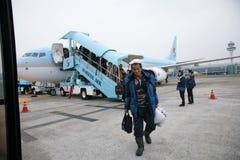 Aéroport, dans Gimpo, la Corée du Sud Photos stock