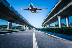 Aéroport dans la porcelaine de Pékin Images libres de droits
