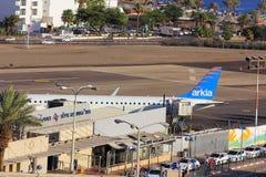 Aéroport dans la station de vacances populaire - Eilat, Israël Photo stock