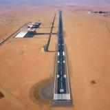 Aéroport dans le désert de Namib Images libres de droits