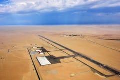 Aéroport dans le désert de Namib Photo stock