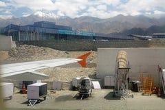 Aéroport dans Leh, Inde Photos stock