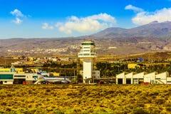 Aéroport dans les îles Canaries de Ténérife Photo libre de droits
