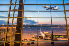 Aéroport dans Pékin Photos stock