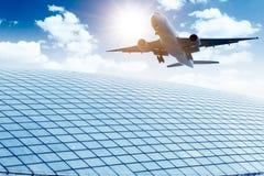 Aéroport dans Pékin Images libres de droits