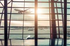 Aéroport dans Pékin Image stock