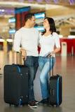 Aéroport de bagage de couples Images stock