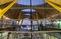 Aéroport de Barajas, Madrid Photos libres de droits