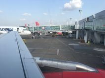 Aéroport de Belgrade Photographie stock