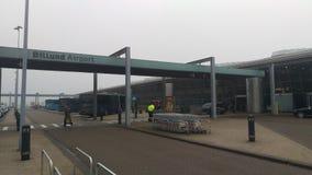Aéroport de Billund, weateher 2018 de brouillard Photo stock