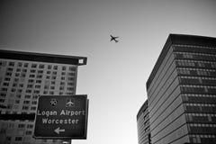 Aéroport de Boston Logan Image libre de droits