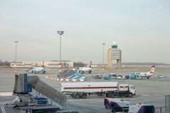 Aéroport de BOURGEON, tour de contrôle Images libres de droits