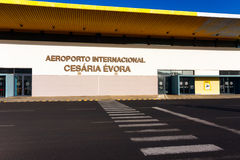 Aéroport de Cesaria Evora, Cap Vert Photographie stock