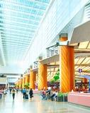 Aéroport de Changi, Singapour Image stock