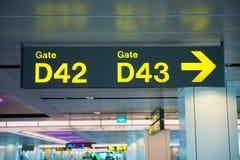 Aéroport de connexion Photos stock
