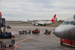 Aéroport de Copenhague Photographie stock