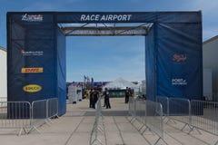 Aéroport de course sur l'affichage Images stock