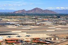 Aéroport de désert Photographie stock