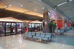 Aéroport de Dalian, Chine Photos stock