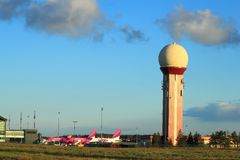 Aéroport de Danzig, Pologne Photo stock