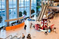 Aéroport de Domodedovo à l'intérieur Images libres de droits