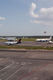 Aéroport de Domodedovo à Moscou, Russie Photographie stock