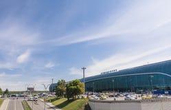 Aéroport de Domodedovo de façade moscou Photographie stock