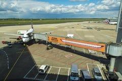 Aéroport de Dusseldorf à Dusseldorf, Allemagne Photo stock