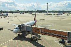 Aéroport de Dusseldorf à Dusseldorf, Allemagne Image libre de droits