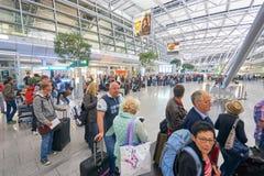 Aéroport de Dusseldorf Photos stock