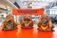 Aéroport de Dusseldorf Image libre de droits