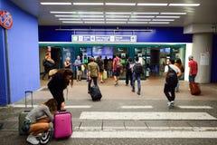 Aéroport de Fiumicino Photographie stock libre de droits