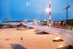 Aéroport de Fiumicino - premier aéroport de ville de Rome le 1er juin 2014 Photo libre de droits